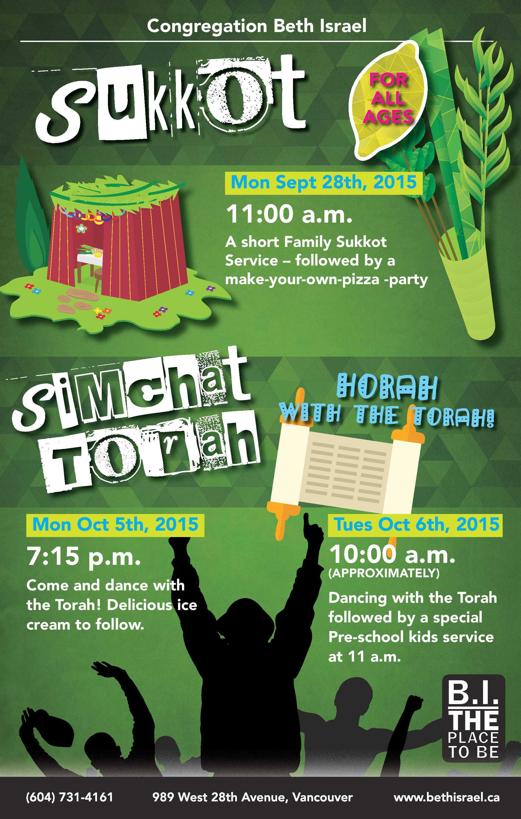 Sukkot Simchat Torah With Cong Beth Israel Yossilinks Vancouver